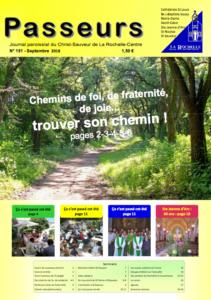 La Une de Passeurs Septembre 2018 - paroisse du Christ Sauveur La Rochelle centre